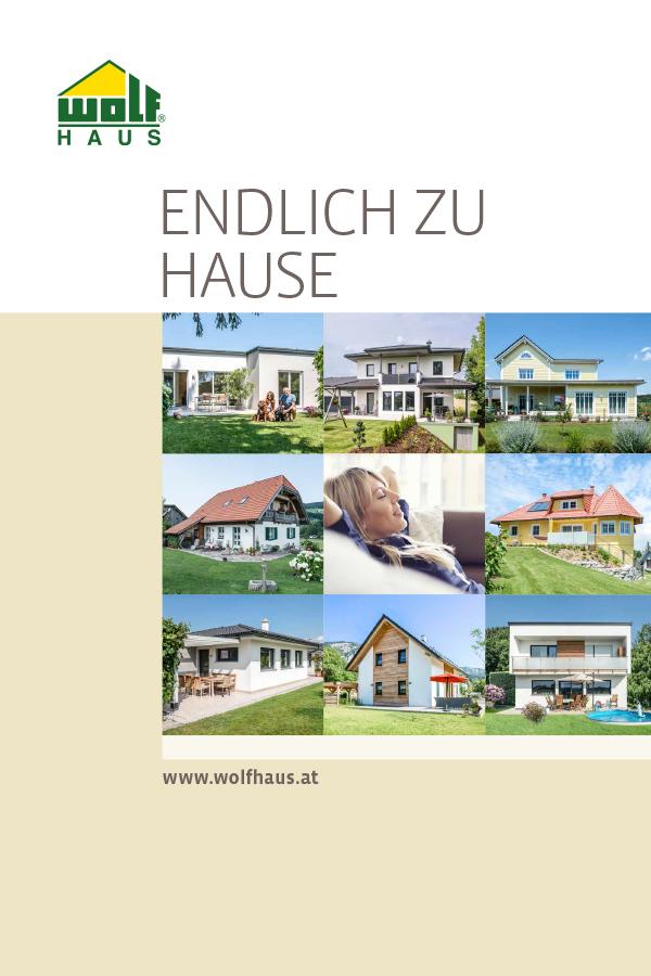 line Kataloge Fertighaus Fertighäuser Keller WOLF Haus
